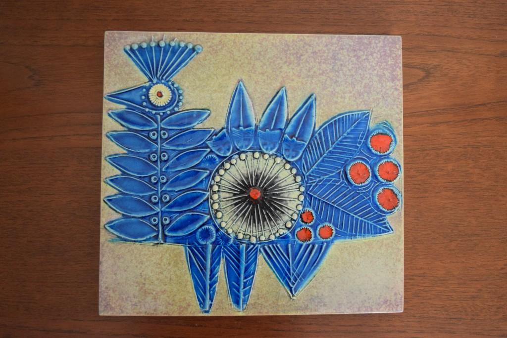 リサラーソン,陶板,VAGGPLATTOR,青い鳥